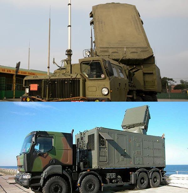 Radar điều khiển hỏa lực 30N6E của S-300 ở trên vượt trội so với radar ARABEL của SAMP/T ở dưới về phạm vi tìm kiếm mục tiêu và dẫn hướng cho tên lửa.