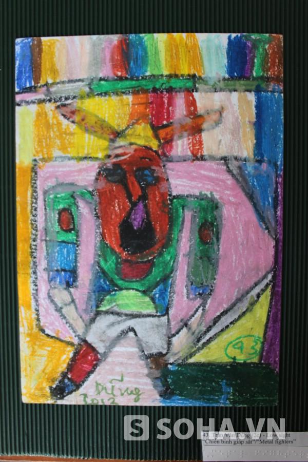 Bức vẽ đầy màu sắc, sáng tạo của Trần Văn Dũng (lớp 2C) với