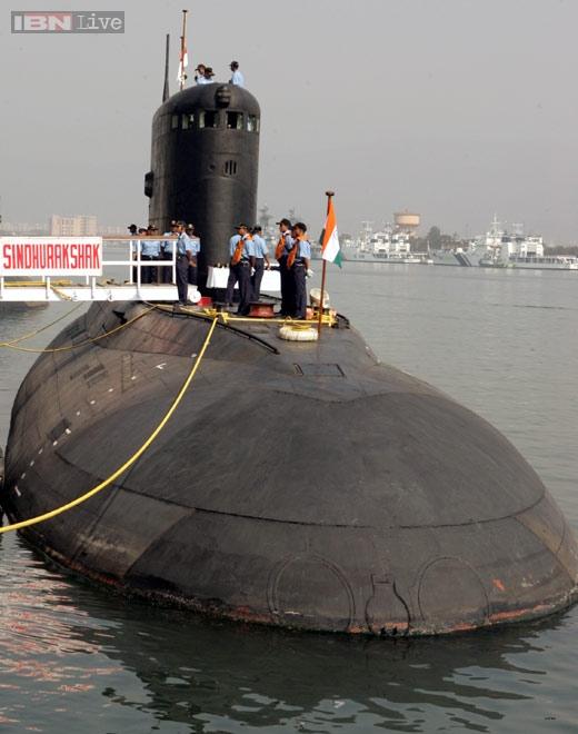 Tàu ngầm INS Sindhurakshak trước khi gặp nạn.