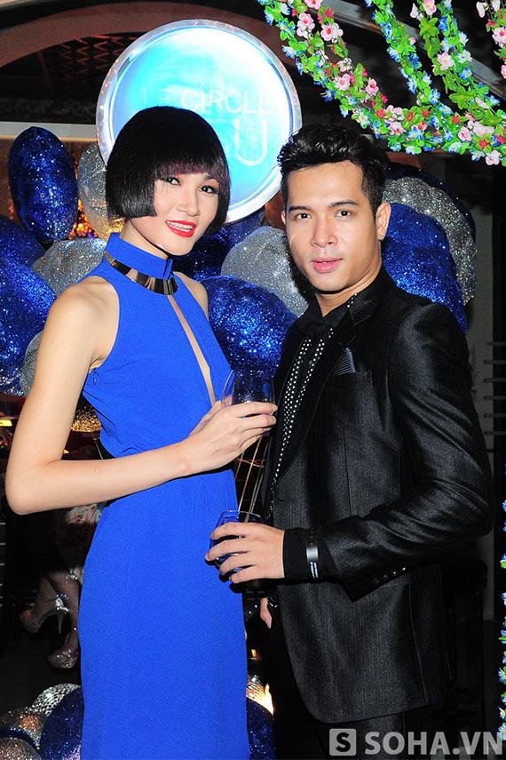 Thuỳ Trang Nexttop bên anh chàng Trương Thế Vinh.