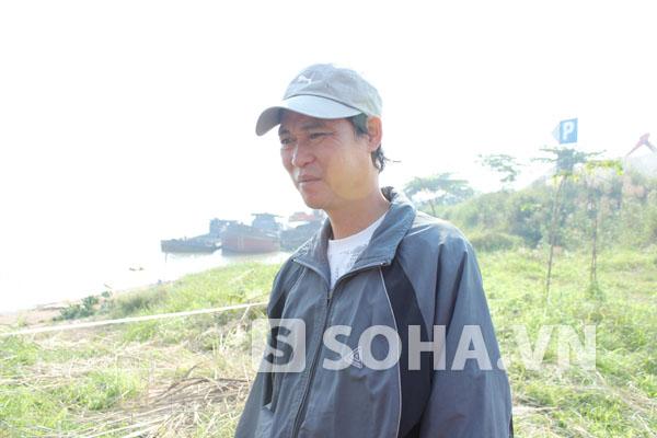 Ông Phạm Đức Quang, cậu của chồng nạn nhân.