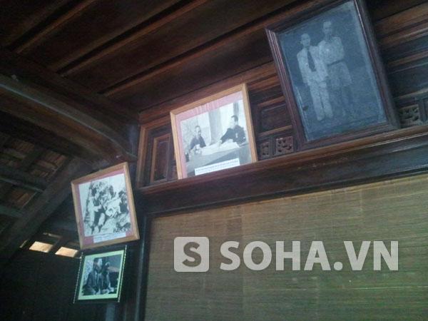 Những bức ảnh lịch sử ghi lại hình ảnh Bác Hồ và Đại tướng trong ngôi nhà Đại tướng tại quê nhà.