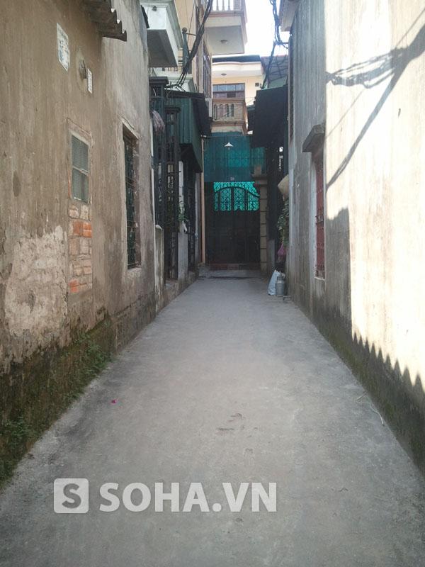Ngõ dẫn vào nhà đối tượng Nguyễn Mạnh Tường.