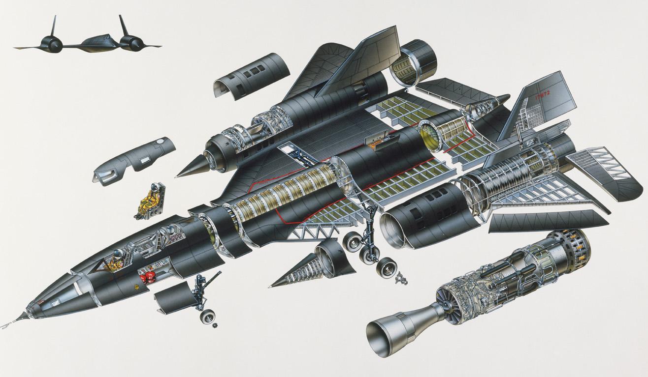 Cấu tạo của máy bay trinh sát SR-71