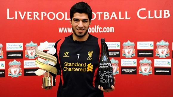 Suarez được bình chọn là Cầu thủ của năm tại Liverpool