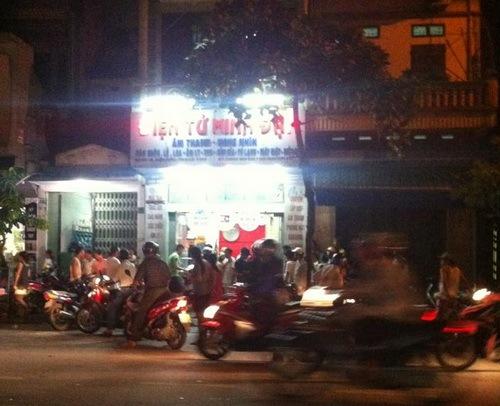 Cửa hàng điện tử Minh Đại nơi xảy ra vụ việc