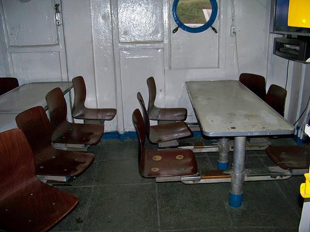 Phòng nghỉ của các thủy thủ đoàn trên tàu.