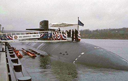 Tàu ngầm USS Louisville của Mỹ thăm cảng Subic (Philippines) tháng 6.2012