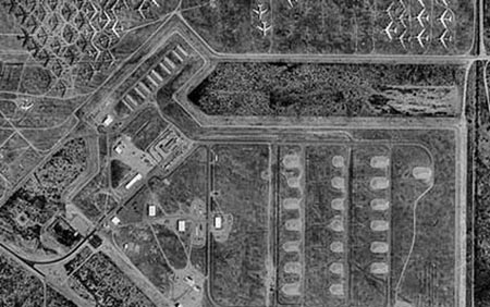 Ảnh chụp vệ tinh của khu vực quân sự Ba Đan Cát Lâm.
