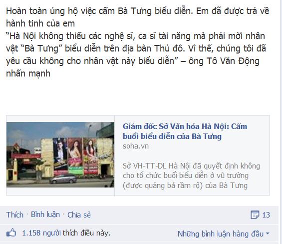 Một fanpage đăng tin và được dân mạng hưởng ứng nhiệt liệt