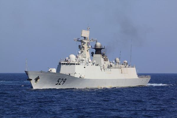 Type-054A loại tàu khu trục nhỏ đa năng đông đảo nhất của hạm đội Nam Hải nhằm mưu đồ thôn tín biển Đông.