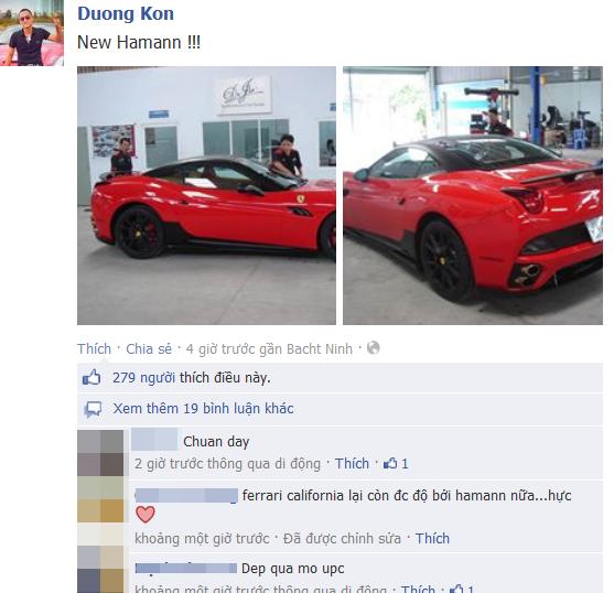 Những lượt like và comment bình luận trên trang cá nhân của thiếu gia này