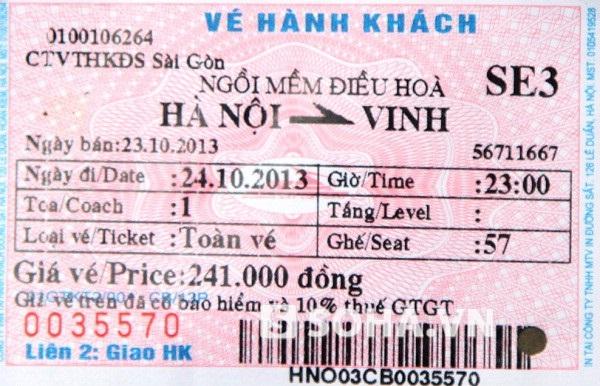 Giá vé của Tuyển đưa chỉ 241 nghìn đồng nhưng chúng tôi phải trả 400 nghìn đồng.