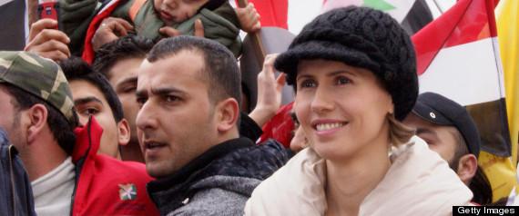Vợ con Tổng thống Syria bất ngờ xuất hiện