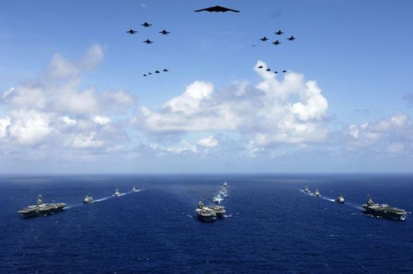 Không-hải chiến sẽ là chiến thuật tiêu biểu cho chiến tranh hiện đại. Ảnh minh họa