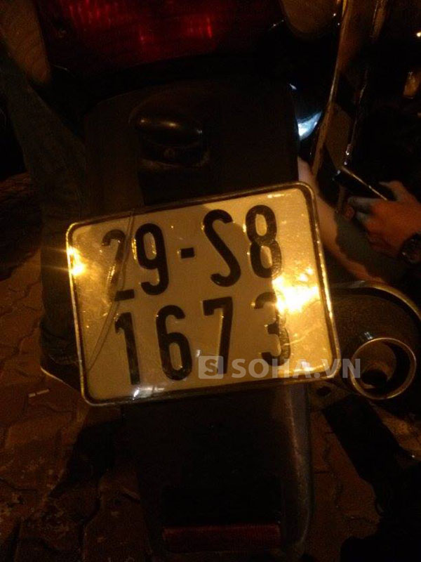 Biển số 29S8 - 1673 (hiện có) thuộc về một chiếc xe khác hoặc là biển số giả