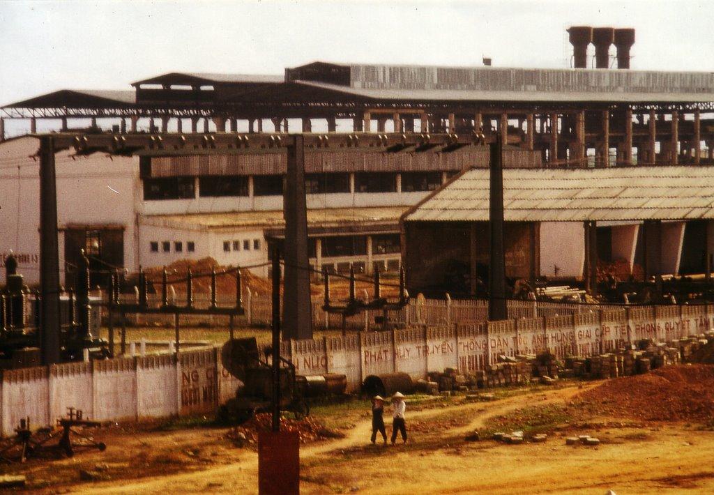 1974 Baustelle Stahl u. Walzwerk Gia Sang;   1974, site of steel and-rolling factory Gia Sang in Thai Nguyen;