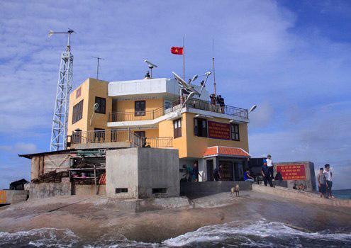 ...đảo chìm Len Đao được xây dựng kiên cố.