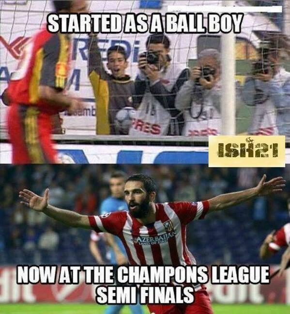 Từ cậu bé nhặt bóng thành ngôi sao tại Champions League,Arda Turan!