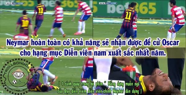Thánh ngã Neymar!