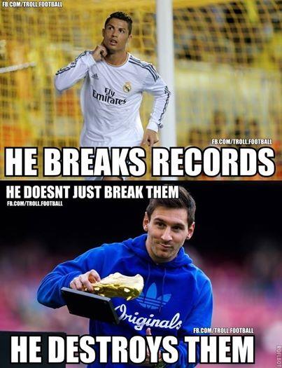 Messi vẫn bá đạo hơn