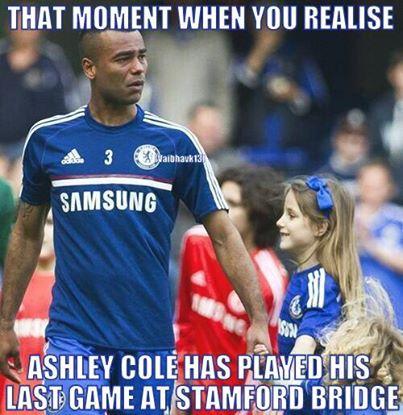 Khoảnh khắc cuối của Ashley Cole ở Stamford Bridge