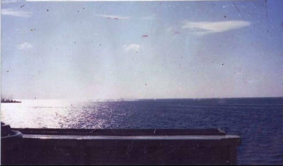 Tàu HQ-505 của Việt Nam trong nổ lực tấn công tàu HQ-531 của Trung Quốc đã bị bắn cháy