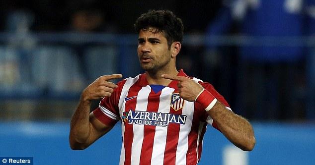 Chelsea có thể tung ra 35 triệu bảng để phá HĐ của Diego Costa với Atletico