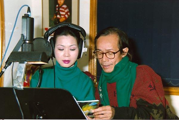 Hình ảnh kỉ niệm của cố nhạc sĩ Trịnh Công Sơn và ca sĩ Khánh Ly trong khoảng thời gian làm việc chung
