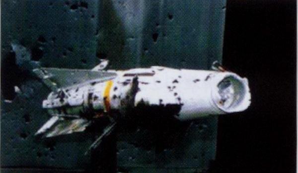 Tên lửa mục tiêu bị tiêu diệt bởi đạn AHEAD