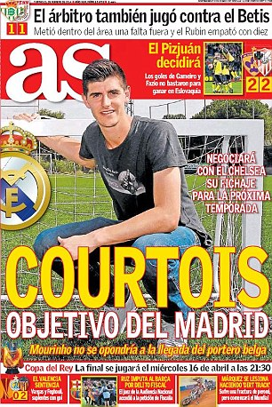 Mourinho đang muốn chia rẽCourtois và Atletico Madrid?
