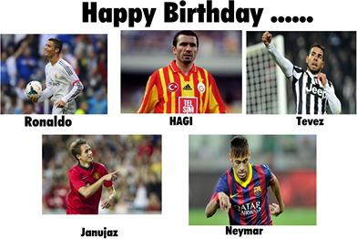Và còn là sinh nhật của nhiều danh thủ khác