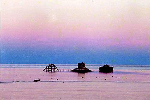 25 năm trước, hoàng hôn trên đảo Phan Vinh.