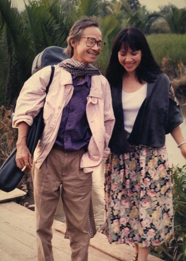 Cố nhạc sĩ Trịnh Công Sơn và em gái Trịnh Vĩnh Trinh