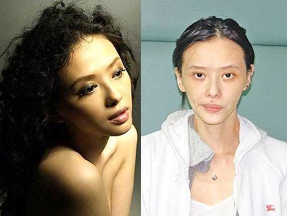 Hình ảnh xập xệ của cô trước và sau khi nghiện ngập.