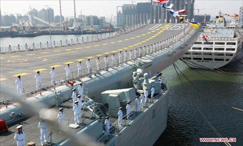 Một góc của tàu sân bay Liêu Ninh