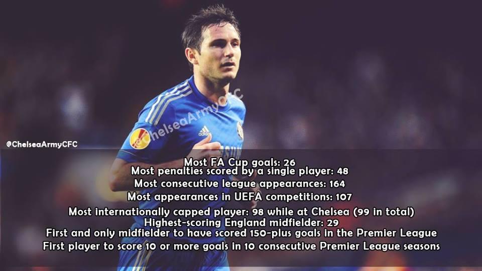 Lampard và những kỷ lục tại Chelsea