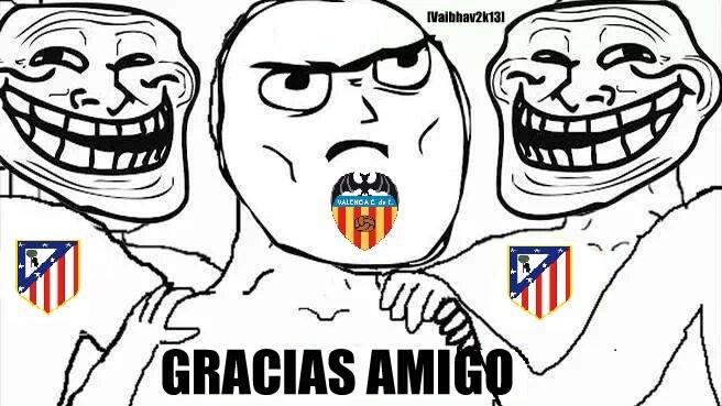 Valencia đã làm quá tốt nhiệm vụ được Atletico giao phó
