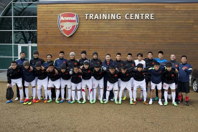 U19 Việt Nam hội quân ở Arsenal