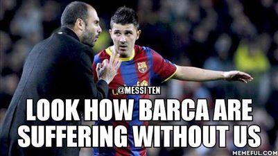 Xem Barca ra sao khi thiếu Pep và David Villa kìa