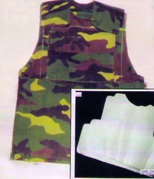 Mẫu áo chống đạn đang được nghiên cứu chế tạo.
