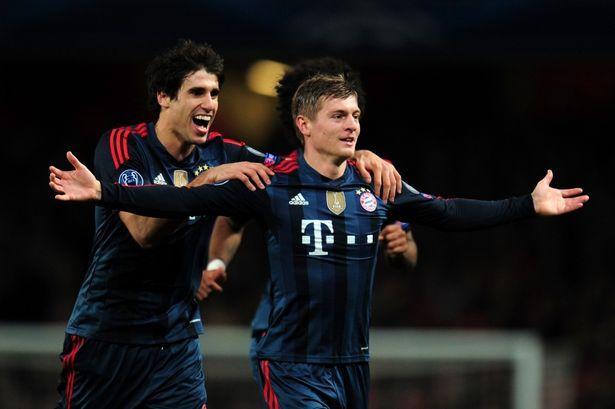 Kroos sau khi ghi bàn vào lưới Arsenal tại Champions League hồi giữa tuần trước