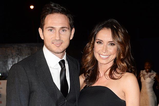 Lampard vui vẻ bên cạnh Christine