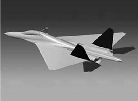 Phác thảo hình dáng máy bay chiến đấu FGFA (phiên bản xuất khẩu của T-50 PAK FA)