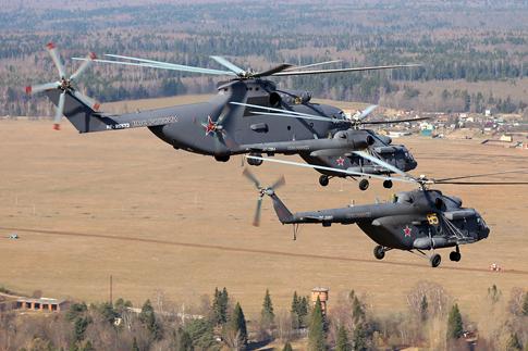 Là dòng trực thăng vận tải lớn nhất trên thế giới, mỗi chiếc Mi-26 có thể mang theo 20 tấn hàng hóa.