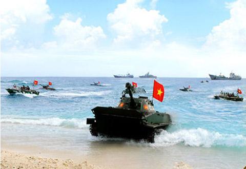 Xe tăng lội nước hạng nhẹ PT-76 của Hải quân đánh bộ Việt Nam