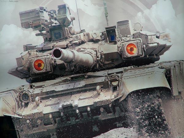 Điều làm nên sức mạnh của T-90 ngoài hệ thống vũ khí cực mạnh nó còn được trang bị hệ thống phòng vệ chủ động Shtora-1. Hệ thống này gồm có 2 đèn hồng ngoại hai bên tháp pháo liên tục phát xung hồng  ngoại gây nhiễu đường ngắm của tên lửa chống tăng đang  bay đến.