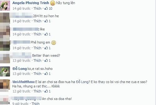 Angela Phương Trinh rất thản nhiên vào trả lời trước những lời bình luận của cư dân mạng