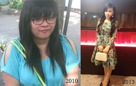 Hình ảnh trước và sau khi giảm cân của Kim Khánh khiến dân mạng không khỏi sốc
