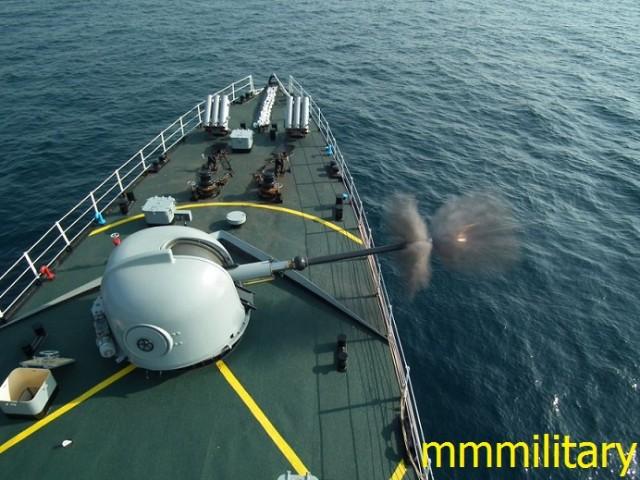 Pháo hạm 76 mm có thể là biến thể của Oto Melara Compact được Triều Tiên sản xuất lắp đặt trên F-11.